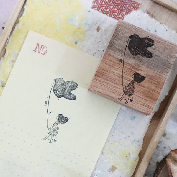 Black Milk Project Rubber Stamp - Bird's Stroll