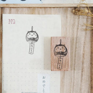 Black Milk Project Rubber Stamp - Furin-Neko Daruma