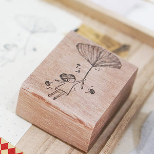Black Milk Project Rubber Stamp - Ginko Girl