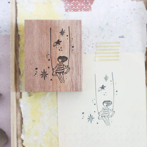 Black Milk Project Rubber Stamp - Starry Swing