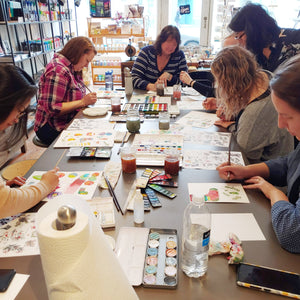 Watercolour Winter Elements - A Beginner Level Workshop with Coco Bee Art