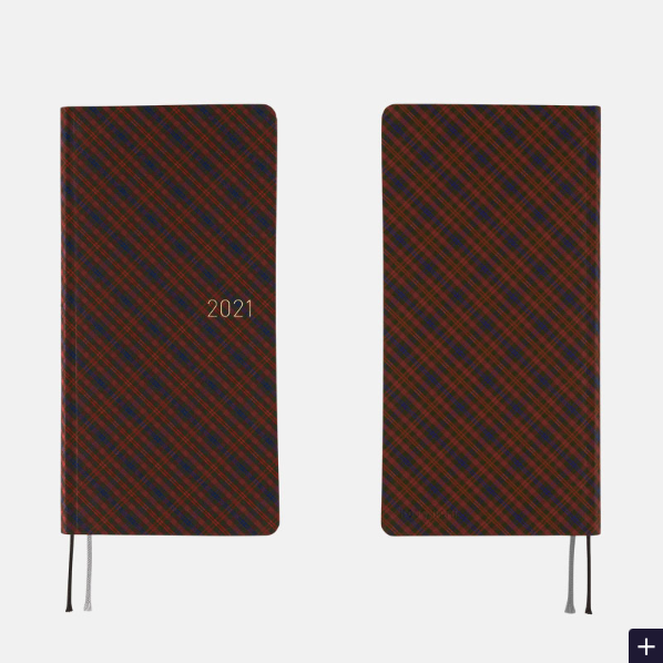 Hobonichi Techo Weeks - Shirt Fabric: Warm Plaid - 2021 January Start
