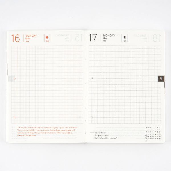 Hobonichi Techo Planner Book A6 English - January 2021 Start