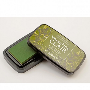 TSUKINEKO - Shading Dark Green Shady Lane (552) Quick-drying Oil-based Pigment Stamp Pad