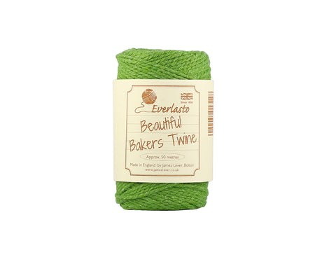 Solid Lime Green Baker's Twine - 50m Spool from Everlasto