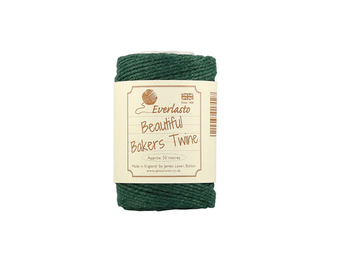 Solid Moss Green Baker's Twine - 50m Spool from Everlasto