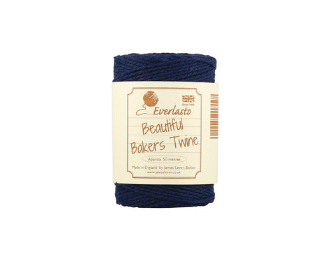 Solid Navy Blue Baker's Twine - 50m Spool from Everlasto