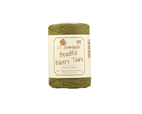 Solid Olive Green Baker's Twine - 50m Spool from Everlasto