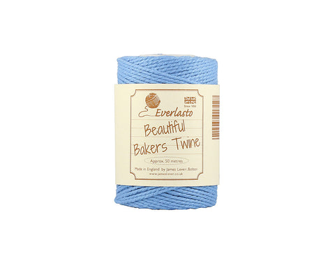 Solid Sky Blue Bakers Twine - 50m Spool from Everlasto