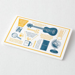 Traveler's Company Travel Tools - Letterpress Card Blue - Traveler's Notebook