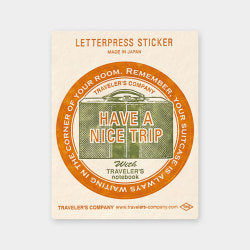 Traveler's Company Travel Tools - Letterpress Sticker Red - Traveler's Notebook