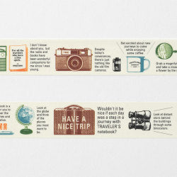 Traveler's Company Travel Tools - Masking Tape Washi Tape - Traveler's Notebook