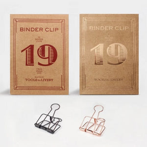 Tools to Liveby Binder Clips - Bronze - 19mm