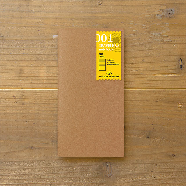 Traveler's Notebook Refill 001 - Regular Size - Lined