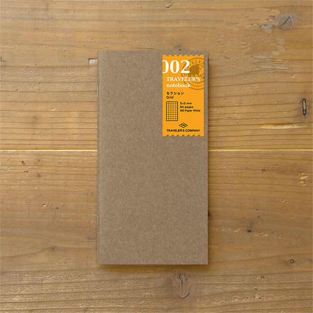 Traveler's Notebook Refill 002 - Regular Size - Grid