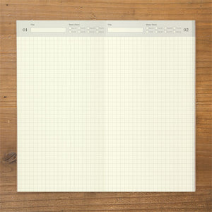 Traveler's Notebook Refill 005 - Regular Size - Free Daily Planner Grid