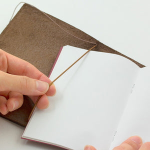 Traveler's Notebook Tea (Brown) - Passport Size - Leather Journal Notebook Kit