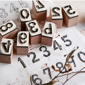 Chamil Garden Rubber Stamp Set - Day Series - Numbers 0-9