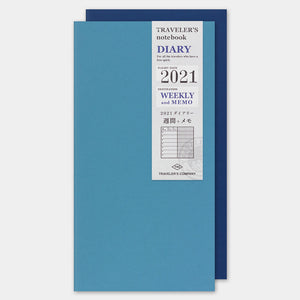 2021 Traveler's Notebook Refill - Regular Size - Weekly Free + Memo