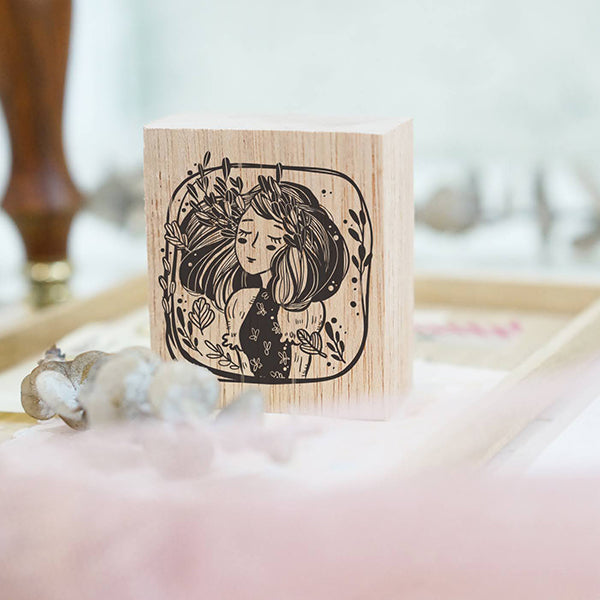 PRE ORDER: Black Milk Project Rubber Stamp - Whimsical Portrait (Marigold)