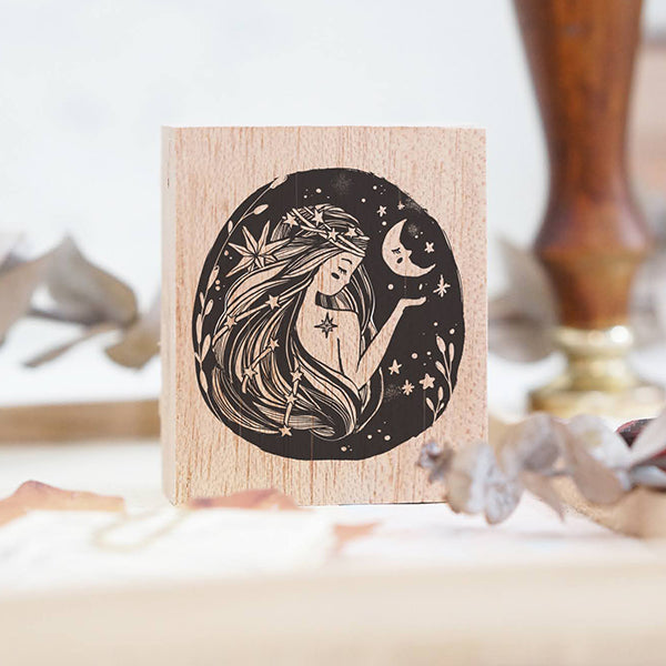 PRE ORDER: Black Milk Project Rubber Stamp - Whimsical Portrait (Moon Lady)