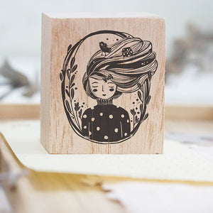 Black Milk Project Rubber Stamp - Whimsical Portrait (Raven)
