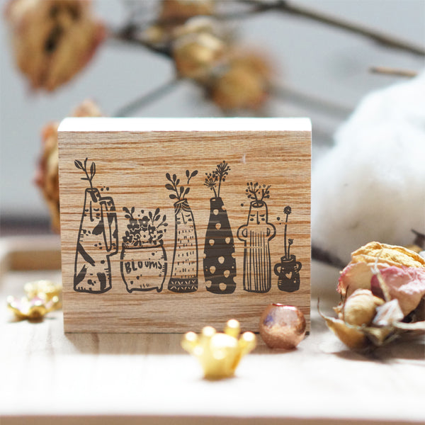 Black Milk Project Rubber Stamp - Whimsy Vase