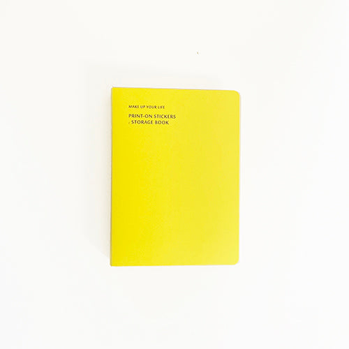 MU Print On Sticker Storage Folder - Yellow