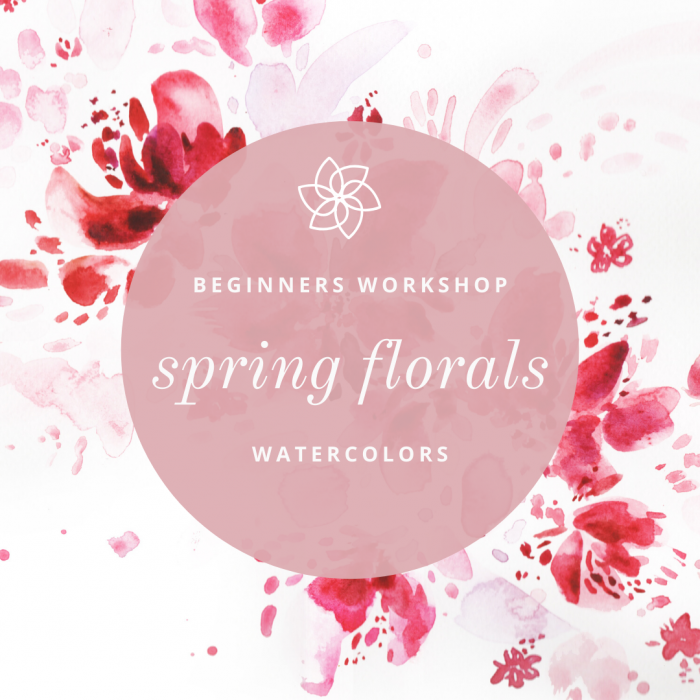 ONLINE Watercolor Workshop - Spring Florals With CocoBee Art