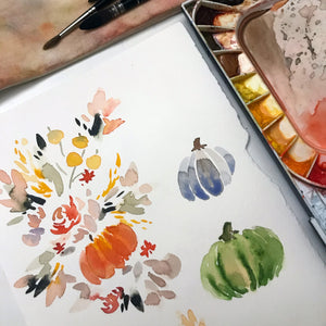 Beginner Watercolour Workshop - Fall Flora - with Coco Bee Art