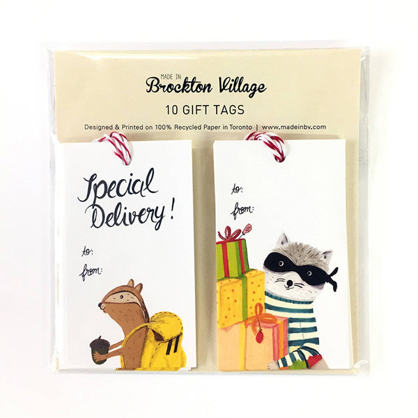 Made In Brockton Village Gift Tags - Special Delivery