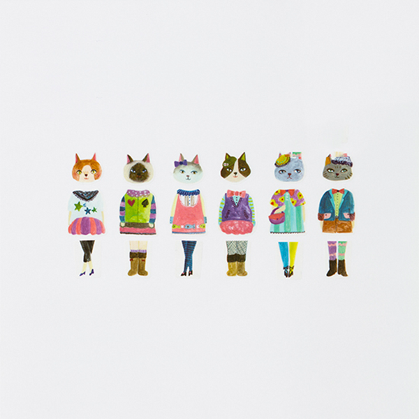 BANDE Cat's Party BDA 214 Washi Paper Sticker Roll
