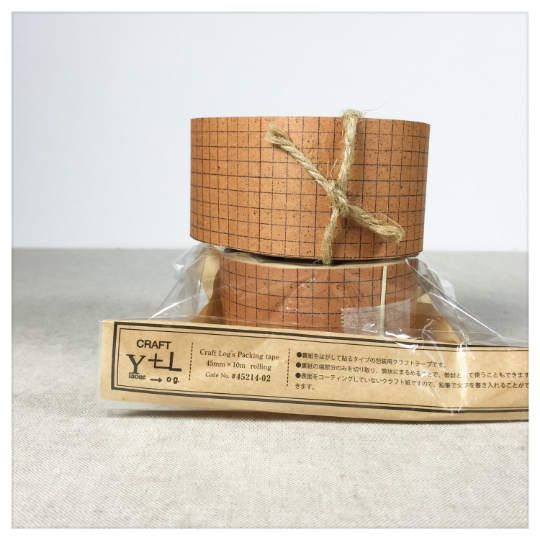 Classiky Kraft Craft Paper Tape - Blue Grid - 30-45mm