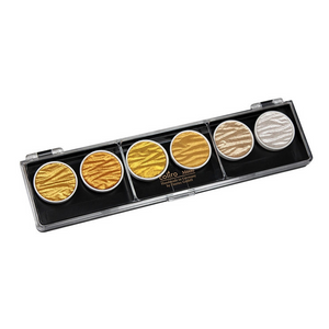 Coliro Finetec Watercolor - 6 Color Set - Gold and Silver