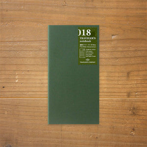 Traveler's Notebook Refill 018 - Regular Size - Weekly Free + Memo