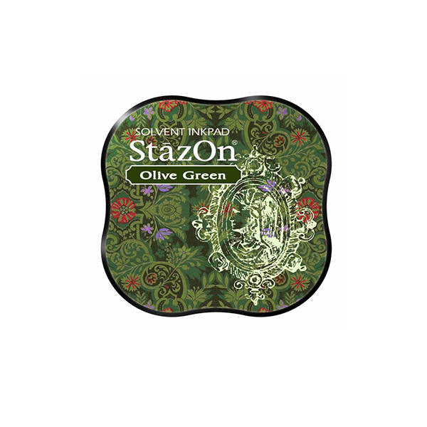 TSUKINEKO StazOn Olive Green Ink Pad