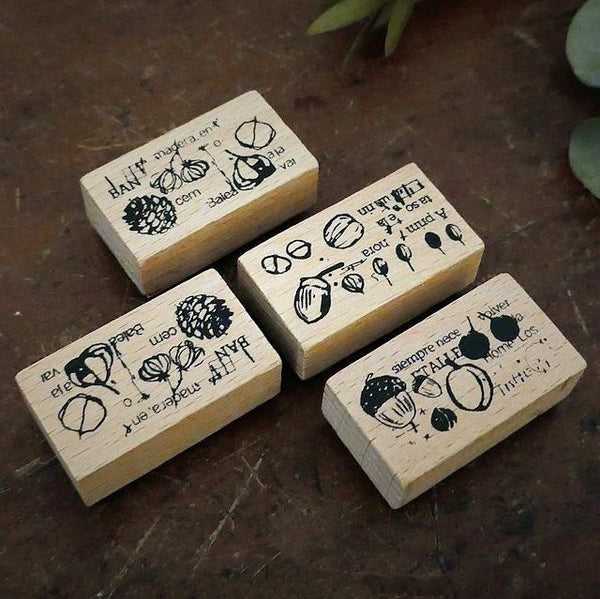 Chamil Garden 5th Anniversary Rubber Stamps Seed Collection Stamp Set MTS-CH205 - 4 stamps