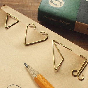 Gold Brass Paper Clips - Tools to Liveby Niagara