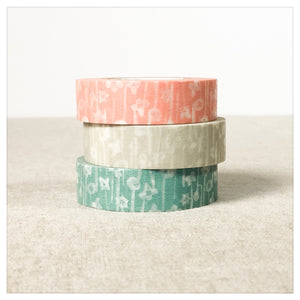Small Flower Washi Tape Set 3pk - Classiky