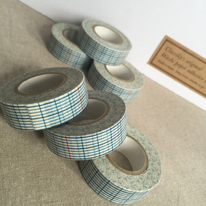 Blue Grid Washi Tape - Classiky - Various Widths