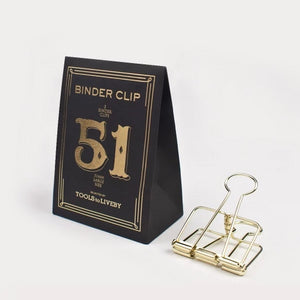 Tools to Liveby Binder Clips - Gold - 51mm