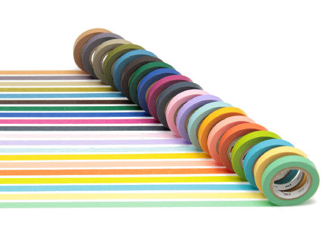 mt 20pc Slim Solid Washi Tape Set