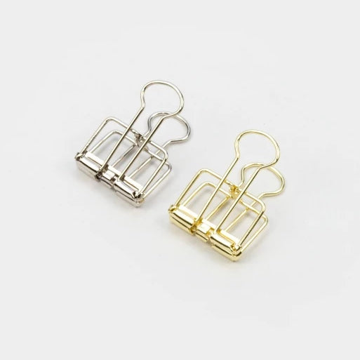 Tools to Liveby Binder Clips - Gold - 19mm