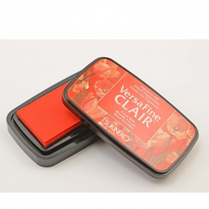 TSUKINEKO - Red Tulip (702) Quick-drying Oil-based Pigment Stamp Pad