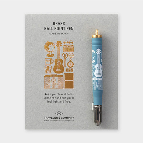 Traveler's Company Travel Tools - Brass Ballpoint Pen - Traveler's Notebook