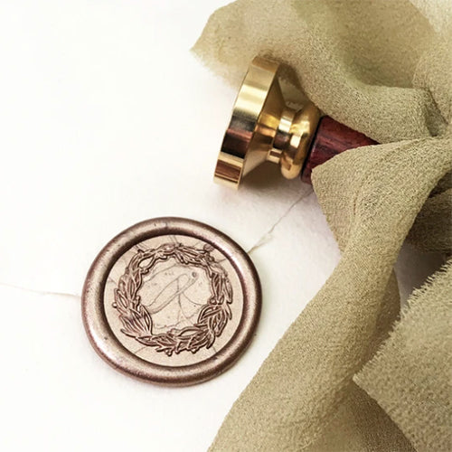 Wax Seal Stamp - Mister Robinson - Wreath - 25mm