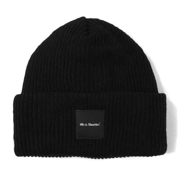 Text Logo Label Beanie