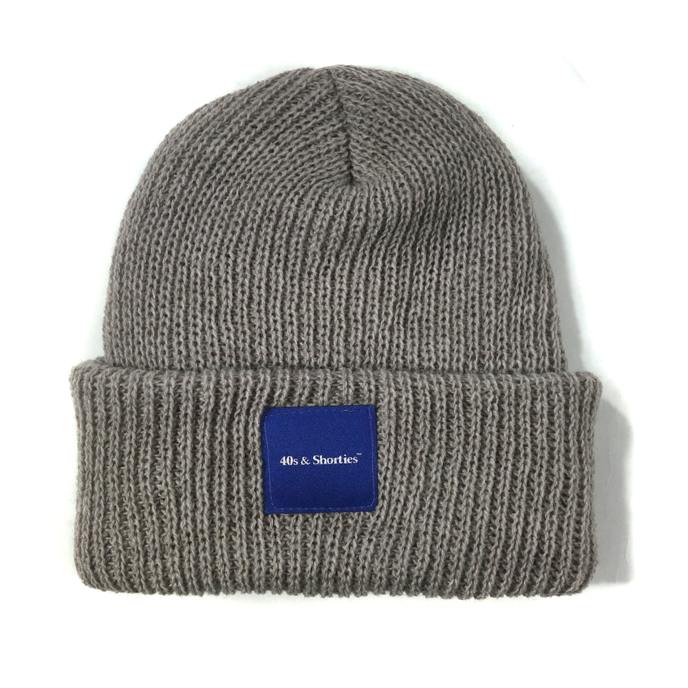 Text Logo Label Beanie – 40s   Shorties f8083c289ff