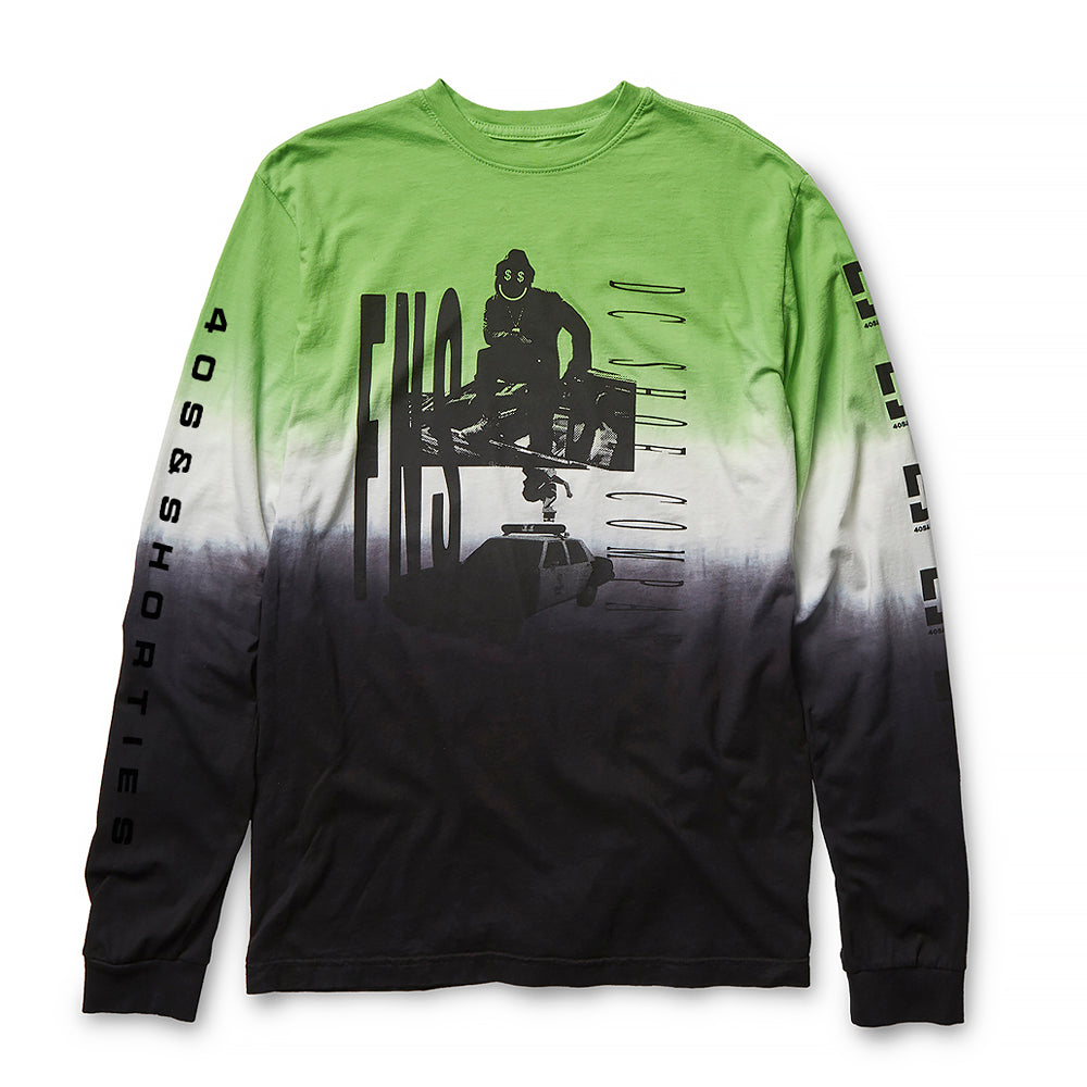 DC Shoes X 40s & Shorties - Dip Dye L/S Tee