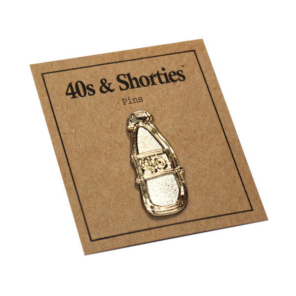 Gold Scribble Bottle Pin